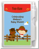 Little Cowboy - Baby Shower Personalized Notebook Favor