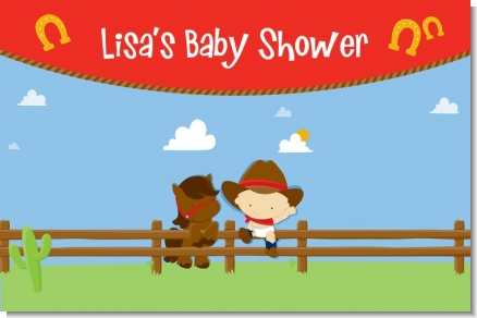 Little Cowboy - Personalized Baby Shower Placemats