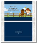 Little Cowboy - Personalized Popcorn Wrapper Baby Shower Favors