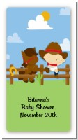 Little Cowboy - Custom Rectangle Baby Shower Sticker/Labels