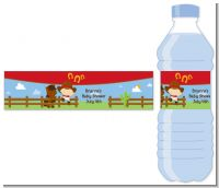 Little Cowboy - Personalized Baby Shower Water Bottle Labels