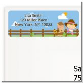 Little Cowgirl - Baby Shower Return Address Labels
