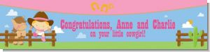 Little Cowgirl - Personalized Baby Shower Banners