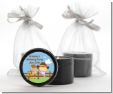 Little Cowgirl - Birthday Party Black Candle Tin Favors