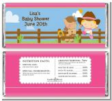 Little Cowgirl - Personalized Baby Shower Candy Bar Wrappers
