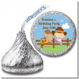 Little Cowgirl - Hershey Kiss Birthday Party Sticker Labels