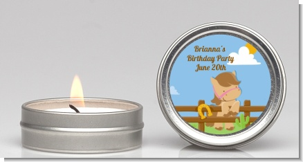 Little Cowgirl Horse - Birthday Party Candle Favors