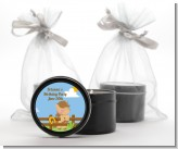 Little Cowgirl Horse - Birthday Party Black Candle Tin Favors