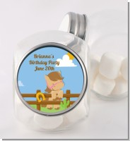 Little Cowgirl Horse - Personalized Birthday Party Candy Jar