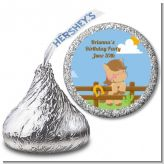 Little Cowgirl Horse - Hershey Kiss Birthday Party Sticker Labels