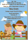 Little Cowgirl - Baby Shower Invitations
