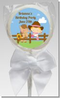 Little Cowgirl - Personalized Birthday Party Lollipop Favors
