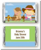 Little Cowgirl - Personalized Baby Shower Mini Candy Bar Wrappers