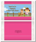 Little Cowgirl - Personalized Popcorn Wrapper Baby Shower Favors