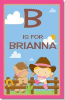 Little Cowgirl - Personalized Baby Shower Nursery Wall Art