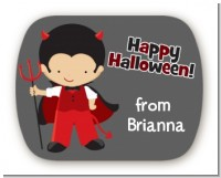 Little Devil - Personalized Halloween Rounded Corner Stickers