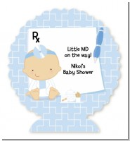 Little Doctor On The Way - Personalized Baby Shower Centerpiece Stand