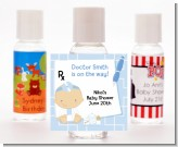 Little Doctor On The Way - Personalized Baby Shower Hand Sanitizers Favors