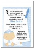 Little Doctor On The Way - Baby Shower Petite Invitations