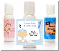 Little Doctor On The Way - Personalized Baby Shower Lotion Favors