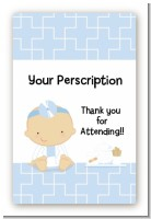 Little Doctor On The Way - Custom Large Rectangle Baby Shower Sticker/Labels