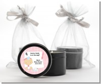 Little Girl Doctor On The Way - Baby Shower Black Candle Tin Favors
