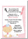 Little Girl Doctor On The Way - Baby Shower Petite Invitations