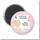 Little Girl Doctor On The Way - Personalized Baby Shower Magnet Favors