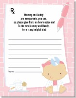 Little Girl Doctor On The Way - Baby Shower Notes of Advice