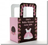 Little Girl Outfit - Personalized Baby Shower Favor Boxes