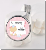 Little Girl Doctor On The Way - Personalized Baby Shower Candy Jar