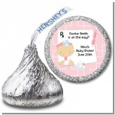 Little Girl Doctor On The Way - Hershey Kiss Baby Shower Sticker Labels