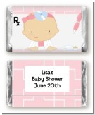 Little Girl Doctor On The Way - Personalized Baby Shower Mini Candy Bar Wrappers