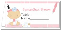 Little Girl Doctor On The Way - Personalized Baby Shower Place Cards