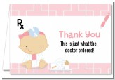 Little Girl Doctor On The Way - Baby Shower Thank You Cards