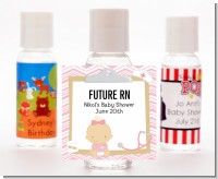 Little Girl Nurse On The Way - Personalized Baby Shower Hand Sanitizers Favors