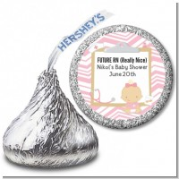 Little Girl Nurse On The Way - Hershey Kiss Baby Shower Sticker Labels