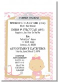 Little Girl Nurse On The Way - Baby Shower Petite Invitations