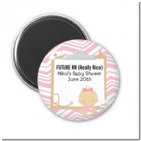 Little Girl Nurse On The Way - Personalized Baby Shower Magnet Favors