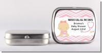 Little Girl Nurse On The Way - Personalized Baby Shower Mint Tins