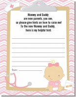 Little Girl Nurse On The Way - Baby Shower Notes of Advice