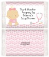 Little Girl Nurse On The Way - Personalized Popcorn Wrapper Baby Shower Favors thumbnail
