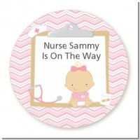 Little Girl Nurse On The Way - Personalized Baby Shower Table Confetti
