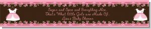 Little Girl Outfit - Personalized Baby Shower Banners
