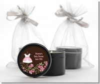 Little Girl Outfit - Baby Shower Black Candle Tin Favors