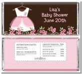 Little Girl Outfit - Personalized Baby Shower Candy Bar Wrappers