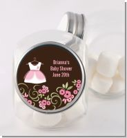 Little Girl Outfit - Personalized Baby Shower Candy Jar