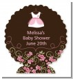 Little Girl Outfit - Personalized Baby Shower Centerpiece Stand thumbnail