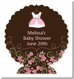 Little Girl Outfit - Personalized Baby Shower Centerpiece Stand