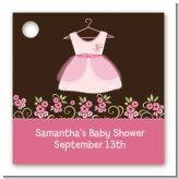 Little Girl Outfit - Personalized Baby Shower Card Stock Favor Tags